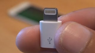 Official Apple iPhone 5 Lightning to Micro USB Adapter Unboxing / Setup / Test