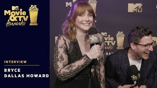 Bryce Dallas Howard on Presenting Chris Pratt's Generation Award | 2018 MTV Movie & TV Awards - MTV