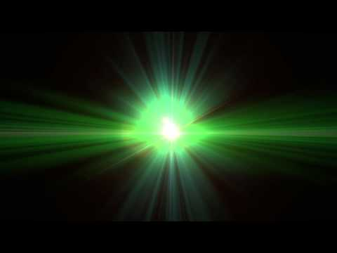 Green Alien-Like Lens Flare Clip - 1080