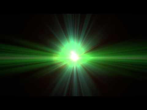 Green Alien-Like Lens Flare Clip - 1080