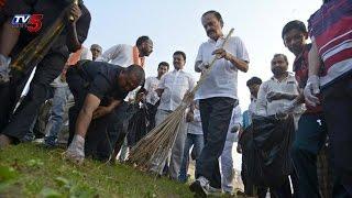 Venkaiah Naidu Swachh Bharat Campaign at RK Beach Vizag : TV5 News - TV5NEWSCHANNEL