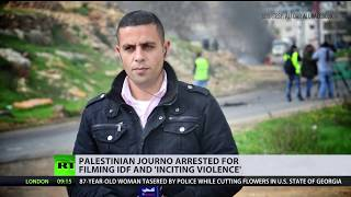 Palestinian journalist arrested for live-streaming IDF soldiers, may face up to 5yrs in prison - RUSSIATODAY