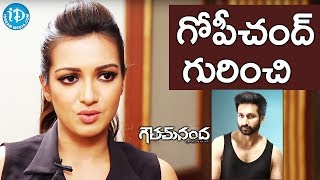 Catherine Tresa About Gopichand And His New Look || #GauthamNanda || Talking Movies With iDream - IDREAMMOVIES