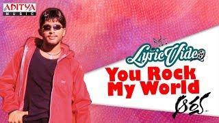You Rock My World Video With Lyrics II Aarya II Allu Arjun - ADITYAMUSIC