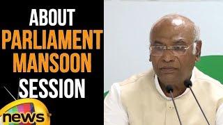 Mallikarjuna kharge Comments On PM Modi | Parliment Mansoon Session  | Mango News - MANGONEWS