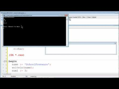 Free Pascal Program Tutorial 3 - Variables and Data Types - Lazarus