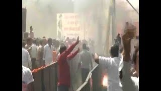 Rae Bareli : FIRE broke out in Amit Shah's rally - ABPNEWSTV