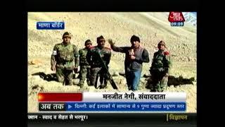 Army Jawans Light Diyas In Poonch SAector Of Jammu And Kashmir - AAJTAKTV