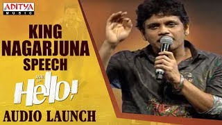 King Nagarjuna Extraordinary Speech @ HELLO! Movie Audio Launch - ADITYAMUSIC
