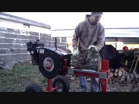 Trying out the new DR Rapidfire wood splitter