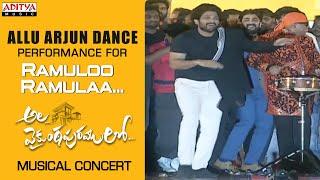 Allu Arjun Dance Performance For #RamulooRamulaa @ Ala Vaikunthapurramuloo Musical Concert - ADITYAMUSIC
