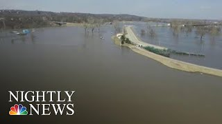 Historic Flooding Leaves At Least Three Dead, Forces Hundreds To Evacuate | NBC Nightly News - NBCNEWS