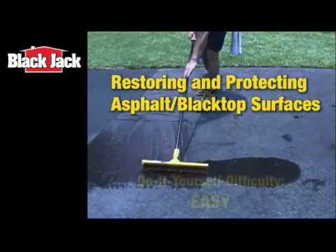 How do I seal my blacktop and asphalt driveways?