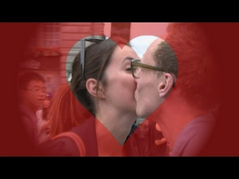 Reporter goes on awkward Kissing Day challenge 2013
