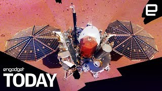NASA's InSight lander uses a selfie to prove it's on Mars | Engadget Today - ENGADGET