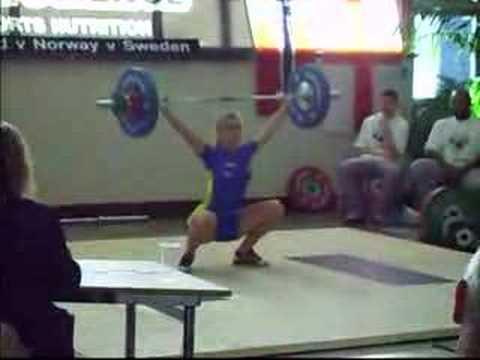 Cute Swedish female weightlifter