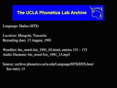 Hadza audio: hts_word-list_1991_13
