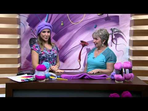 Mulher.com 23/03/2015 Turbante em trico por Vitoria Quintal Parte 1
