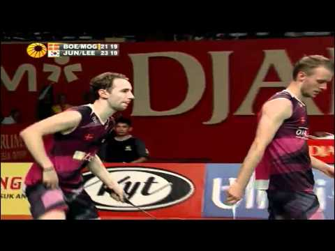 F - MD - Jung J.S./Lee Y.D. vs M.Boe/C.Mogensen - 2012 Djarum Indonesia Open