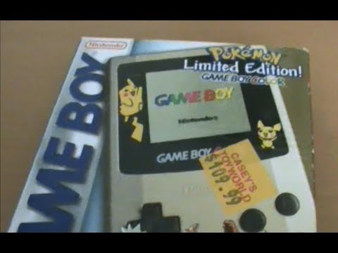Pokemon Gold and Silver Limited Edition Gameboy Colour Unboxing