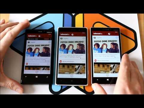 Lumia 920, Nokia Lumia 830 und Lumia 930 im Vergleich