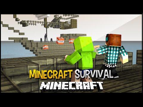 Minecraft Survival Ep.129 - Batalha Entre Navios !! Viramos Piratas :D