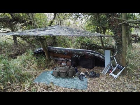 AUTUMN WILD CAMP - Lt Wt Tarp, Cozey Camp Fire, Kit Bag, MRE Trail Food