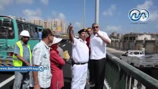 بالفيديو والصور ..محافظ الإسكندرية يفتتح المرحلة الأولى من كوبري محرم بك