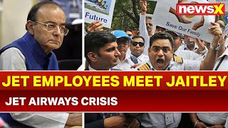 Jet Airways Crisis: SBI Chief, Employees meet Finance Minister Arun Jaitley - NEWSXLIVE