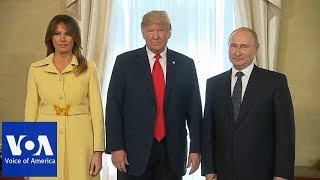 Helsinki Summit: Trump Introduces First Lady Melania to Putin - VOAVIDEO