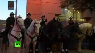 Violent protests outside Donald Trump rally in Albuquerque - RUSSIATODAY