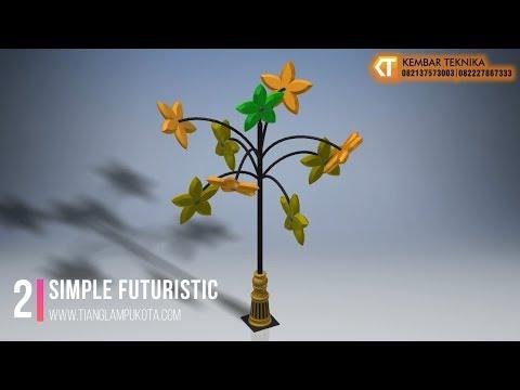 Desain Tiang Lampu Unik