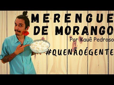 RECEITAS DO KAUÊ - MERENGUE DE MORANGO