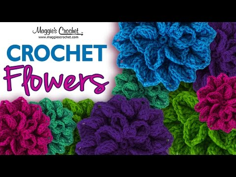 Hydrangea Free Crochet Pattern - Right Handed