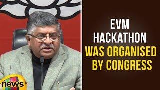 Ravi Shankar Prasad Says EVM Hackathon Was Arranged by Congress | BJP Vs Congress | Mango News - MANGONEWS
