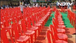 हेमा मालिनी के साथ योगी की रैली में खाली कुर्सियां - NDTVINDIA