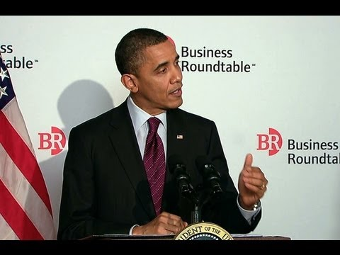 President Obama Speaks to Business Roundtable