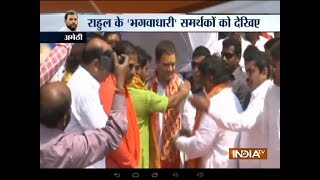 Rahul Gandhi reaches Amethi, offers prayer to Lord Shiva - INDIATV