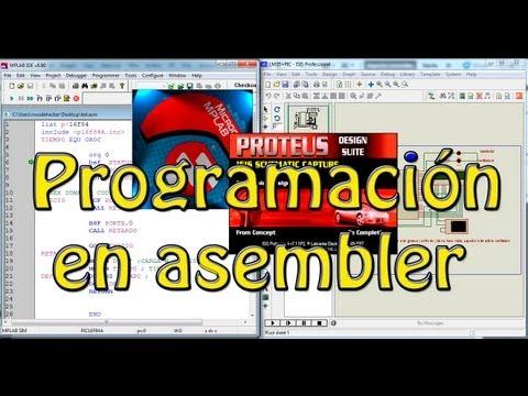 Primer Tutorial de programación básica en ASEMBLER (Prender un led, el
