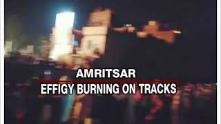 Amritsar Train Accident | Effigy burning on tracks - NEWSXLIVE