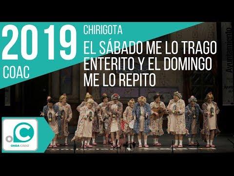La agrupación El sábado me lo trago enterito y el domingo me lo repito llega al COAC 2019 en la modalidad de Chirigotas. Primera actuación de la agrupación para esta modalidad.
