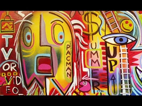 RAEART RETRO PARTY graffiti street- speed painting ART time lapse