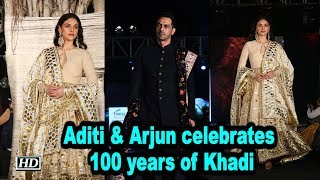 Aditi Rao Hydari & Arjun Rampal celebrates 100 years of Khadi - IANSLIVE