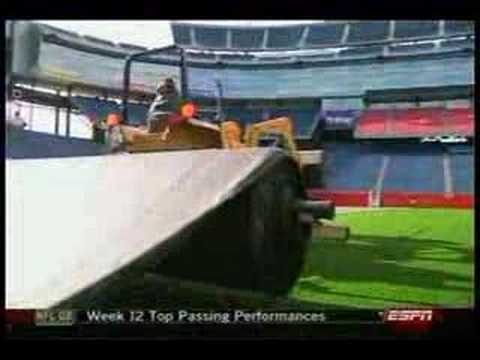 New England Patriots first home game on FieldTurf