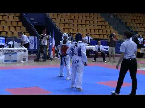 אליפות ירושלים הפתוחה 2009 - יהודה ראובן (באדום) נגד רון אטיאס