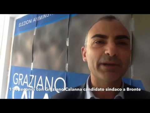 Politica: 114 secondi con Graziano Calanna candidato sindaco a Bronte