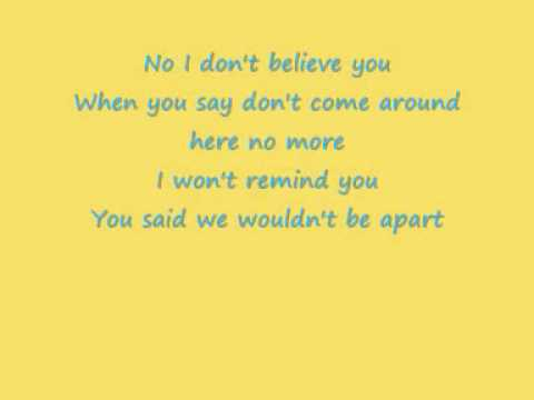 Pink I don t believe you Lyrics