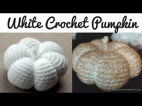 White Crochet Pumkin