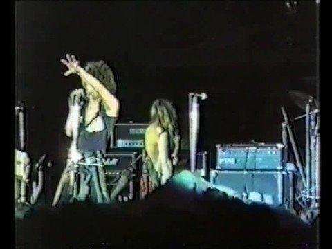 Występ satanistycznego zespołu Test Fobii KREON w 1986r.