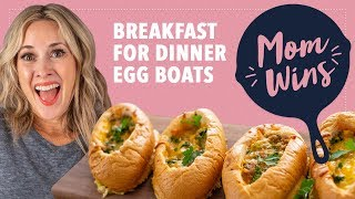 Breakfast-for-Dinner Egg Boats with Bev Weidner | Mom Wins - FOODNETWORKTV